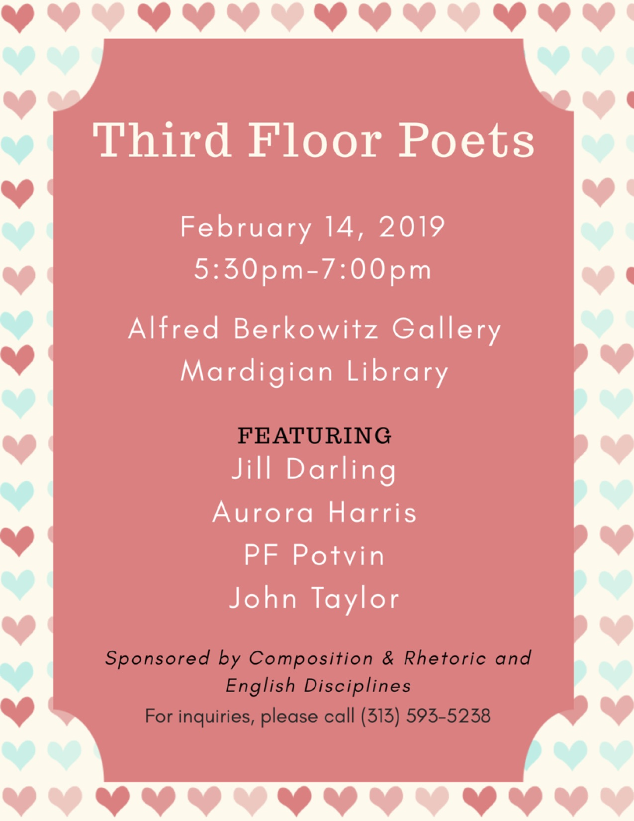 Third Floor Poets Valentine's Day Reading