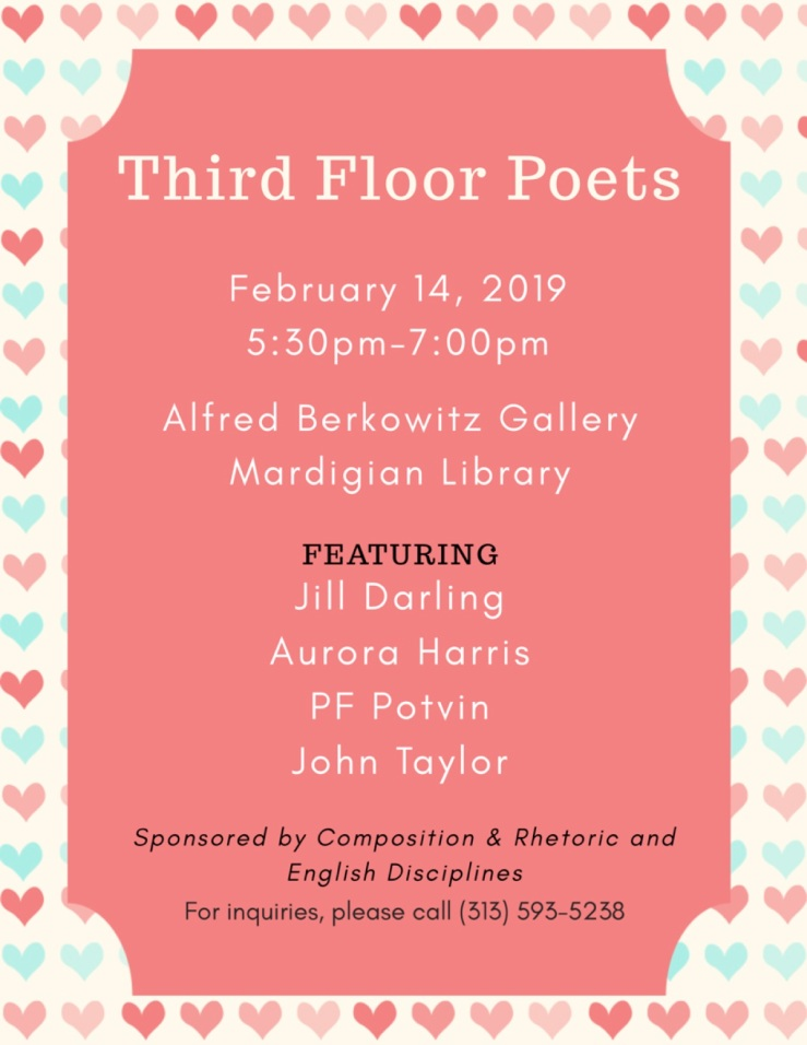 Third Floor Poets Valentine's Day Reading